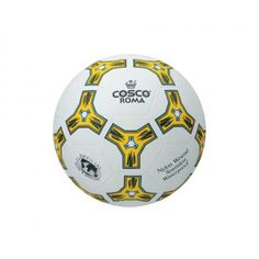 Product Description  The Cosco Roma Football Rubber Moulded ball with Plain Surface.  Features  Rubber Moulded ball with Plain Surface.  Highly Durable top cover.  Nylon wound for high shape stability and butyl bladder  for high air retention.