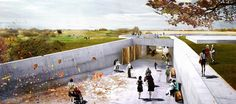 Experience- and knowledge centre at Trelleborg Viking Fortress :: Henning Larsen Architects
