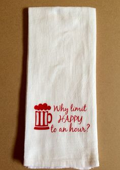 Flour towel w/ heat transfer design