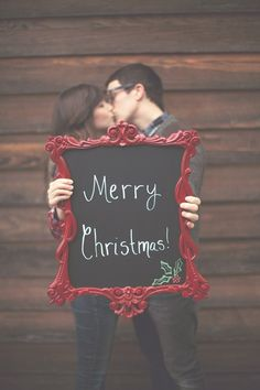 cute chalkboard and christmas card idea!