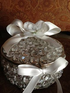 crystal ring bearer pillow alternative ring by TheCrystalFlower, $99.00