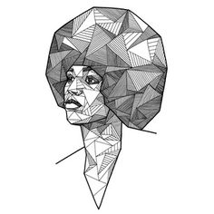 Geometric Portraits by Allison Kunath