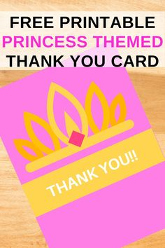 After your little girl has the most perfect princess birthday party, you will need to send our this free printable princess thank you card. There is a space at the bottom to write a special message for your guest. This thank you card download is easy to print and use on you home computer, prints 2 to a page. Be sure to print this pink and gold invite now to send out. Save this pin for later!  Head on over to our blog, Vanahlynn.com to see our mermaid birthday cupcake ideas. Mermaid Birthday, Princess Birthday, Princess Party, Invite, Invitations, Cupcake Ideas, Birthday Cupcakes, I Party, Pink And Gold