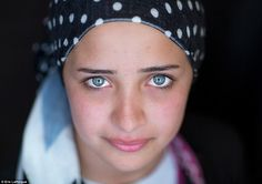 This girl, a Syrian Kurd, was forced to flee with her family to a refugee camp in the Iraqi Kurdish city of Erbil after her home was bombed #narenjtree