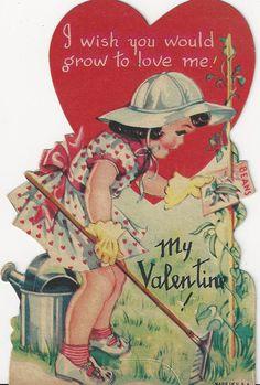 Vintage Valentines garden love