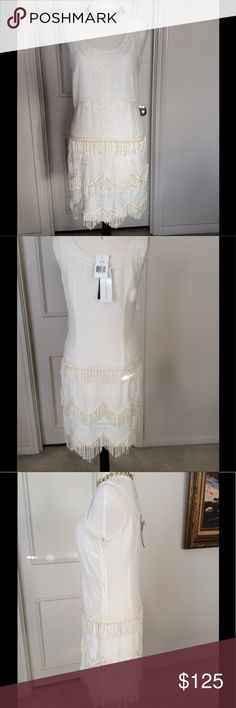 Brand new French Connection dress Lovely, brand new Dress. Tags attached. In this dress you will look like angel.  It doesn't fit me otherwise I would keep it. The pictures font do just to this dress. It's wayyyy prettier and great quality in person. French Connection Dresses Midi