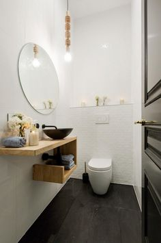 35+ Crazy And Handsome Tiny Powder Room With Color And Tile - Page 13 of 42
