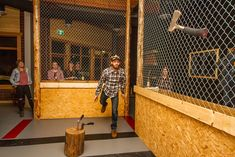Inspired by local forestry scene, Peak Axe Throwing opens its doors - Revelstoke Mountaineer Archery Arrows, Archery Hunting, Deer Hunting, Archery Targets, Lumberjack Axe, Bow Quiver, Knife Throwing, Kayaking Gear, Longbow