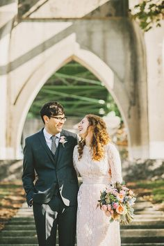 Eleanor and Max's Cathedral Park Wedding in Portland, OR
