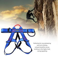Climbing Harness Safe Seat Belt UCEC for Fire Rescue High Altitude Rock Climbing Rappelling Equipment Half Body Guard Protect pack of >>> Click image for more details. (This is an affiliate link) Rock Climbing Harness, Rappelling, Ski Boots, Mountaineering, Skiing, Fire, Belt, Clothing, Outdoor