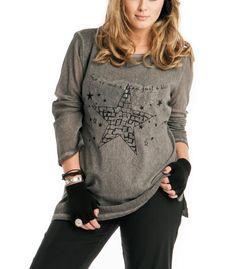 Damen Shirt Twinset in Grau