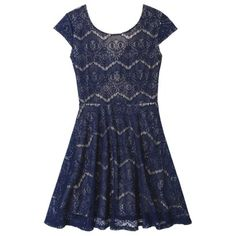 Chase 7 blue lace dress at target Dress Outfits, Casual Outfits, Clothing Swap, Lace A Line Dress, Target Dresses, Navy Lace, Blue Lace, Dress To Impress, Spring Outfits