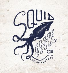 """Squid ink"" Artwork Available for sale. Contact me by email: danilodedonno@libero.it  www.danilodedonno.com #illustration #fishing #squid  #forsale #artwork #ink #sailors #sailor #sailing #vintage #typo #custom #tshirt #drawing #print #design #apparel #printdesign #art #typography #tshirtdesign #tattoo #tattoos #graphicdesign #illustrator"