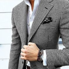 $110 @ Aliexpress. Mens Checkered Suit Houndstooth Custom Made Men Dress Suits,Tailored Casual Men Suits Duotone Weave Hounds Tooth Check,Dogstooth