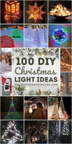 Diy Christmas Light Decorations, Christmas Lights Outside, Hanging Christmas Lights, Christmas Light Displays, Xmas Lights, Christmas Crafts, Christmas Bulbs, Cheap Christmas Lights, Ball Lights