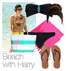 """""""REQUESTED: Beach with Harry"""" by style-with-one-direction ❤ liked on Polyvore featuring Linum Home Textiles, Boohoo, Abercrombie & Fitch, Hayden Reis, OneDirection, harrystyles, 1d and harry styles one direction 1d"""