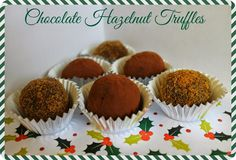 Chocolate Hazelnut Truffles #vegan - Suma Blogger's Network...