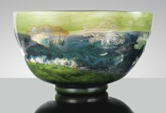 Emile Gallé COUPE LA NATURE, VERS 1900 'LA NATURE', A MARQUETERIE SUR VERRE AND INTERNALLY DECORATED WITH POWDERS AND OXIDES CAMEO GLASS BOWL, CIRCA 1900. SIGNED Estimate 200,000 — 300,000 EUR