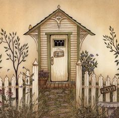 Cottage Outhouse IV Fine-Art Print by Linda Spivey at FulcrumGallery.com
