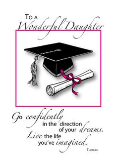 Special Graduation Gifts From Mother To Daughter : ... Graduation ideas on Pinterest Graduation Cards, Graduation Gifts and