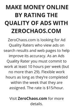 Make Money Online By Rating The Quality Of Ads With ZeroChaos.Com - Online Courses - Ideas of Online Courses - Make Money Online By Rating The Quality Of Ads With ZeroChaos.Com Wisdom Lives Here Ways To Earn Money, Earn Money From Home, Earn Money Online, Online Jobs, Way To Make Money, Online Careers, Online Courses, Earning Money, Legit Work From Home