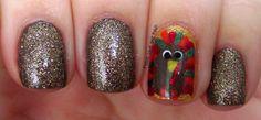 check out www. - DIY & Crafts that I love, Thanksgiving Nail Art, Thanksgiving Turkey, Halloween Nail Art, Make Your Mark, Holiday Nails, Nails Inspiration, Pretty Nails, Peace And Love, Nail Designs