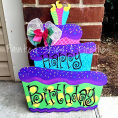 DIY Birthday Cake Door Hanger See more on our facebook and etsy pages!  We ship!