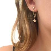 Colorful Fancy Drop Earrings- ruby turquoise amethyst green orange/ bright dangle earrings/ easter earrings/ easter gifts/ gifts for her - Fine Jewelry Ideas Chain Earrings, Tassel Earrings, Crystal Earrings, Dangle Earrings, Diamond Earrings, Unique Earrings, Gold Star Earrings, Pierced Earrings, Cute Earrings