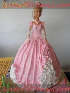 МК Барби кукла торт -Barbie doll cake tutorial - Мастер-классы по украшению тортов Cake Decorating Tutorials (How To's) Tortas Paso a Paso