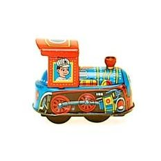 Dorothy & Evelyn retro mini wind-up tin train from Hard to Find