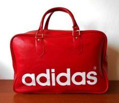 A Vintage 1970s Adidas Peter Black Northern Soul Holdall Weekend Sports Bag