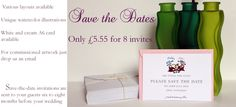 Personalised illustrated stationery - invitations, thank you cards, birth announcement cards, address cards, change of address cards, Christmas, Easter.