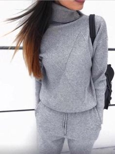dea5ab1b5f1 New Fashion Turtleneck Sweater Knit Suits Fall Sweaters, Sweaters For  Women, Female Fashion,