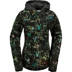 Volcom - Circle Flannel Jacket - Women's - Black Floral Print