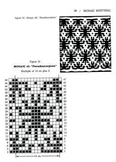 Mosaic Knitting Barbara G. Walker (Lenivii gakkard) Mosaic Knitting Barbara G. Walker (Lenivii gakkard) #43