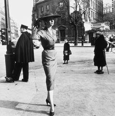 Boulevard Raspail, Rue de Rennes, Paris. 1952  Edouard Boubat (1923-1999) is a classic of the French photography