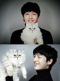 dramafevers- 21 Hot Korean men holding cute animals