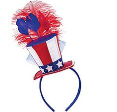 Patriotic Feather Hat Headband