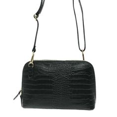 Sac Luna -cuir effet Crocodile Vert 43,00 €- chez HOWNE Crocodile, Bags, Fashion, Green Leather, Leather Accessories, Purse, Pouch Bag, Objects, Handbags