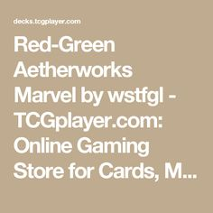 Red-Green Aetherworks Marvel by wstfgl - TCGplayer.com: Online Gaming Store for Cards, Miniatures, Singles, Packs & Booster Boxes
