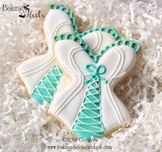 Corset Decorated Cookies, Busty Corset Sugar Cookie Favors, Bridal Shower Corset Cookies, Lingerie Cookies, Risque Cookies