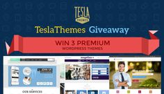Here we are with another superb WordPress theme giveaway brought to you in association with TeslaThemes, in this giveaway you have a chance to win 3 amazing WordPress themes which looks spectacular and comes with all modern features. #wordpress