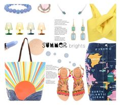 """Summer Brights"" by annbaker ❤ liked on Polyvore featuring Love Moschino, Delpozo, Fatboy, Essie, Mara Hoffman, Elina Linardaki, Irene Neuwirth, Palm Beach Jewelry and Allurez"