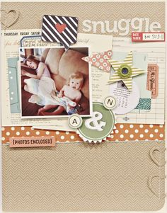 #Papercraft #Scrapbook #Layout. Studio Calico