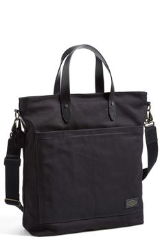 Durable arm candy | Rugged Canvas Tote with Leather Trim