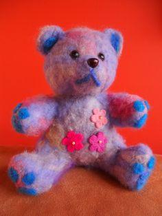 """One of my hand-felted """"Faerie Bears"""" Faeries, Attitude, Bears, Sculptures, Felt, Teddy Bear, Wall Art, Toys, Animals"""