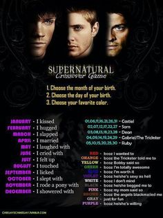 So mine is: I felt up Sam because I'm totally awesome.....I could live with that lol