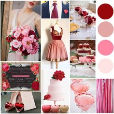 Cranberry Mauve Pink Blush Wedding Red Pink