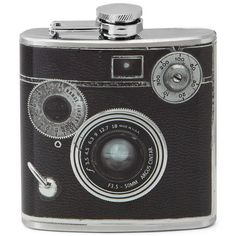 GeekAlerts has shown you some pretty cool flasks in the past, but this Camera Flask may be our favorite…besides of course the Sasquatch Flask, where size really does matter.    The 6 ounce Camera Flask looks like a vintage analog camera with all the knobs and dials printed on it. It makes the perfect gift for the inspiring photographer or someone that demands a little style from their drinks. http://www.uncommongoods.com/product/camera-flask