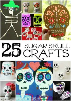 25 Day of the Dead Crafts for Kids - Play Ideas 25 Day of the Dead Crafts for Kids. Celebrate Day of the Dead with your kids and these 25 great crafts. Click now. Want excellent tips on arts and crafts? Go to our great info! Theme Halloween, Halloween Celebration, Halloween Crafts For Kids, Fall Crafts, Fall Halloween, Holiday Crafts, Arts And Crafts, Mexican Crafts Kids, Halloween Stuff